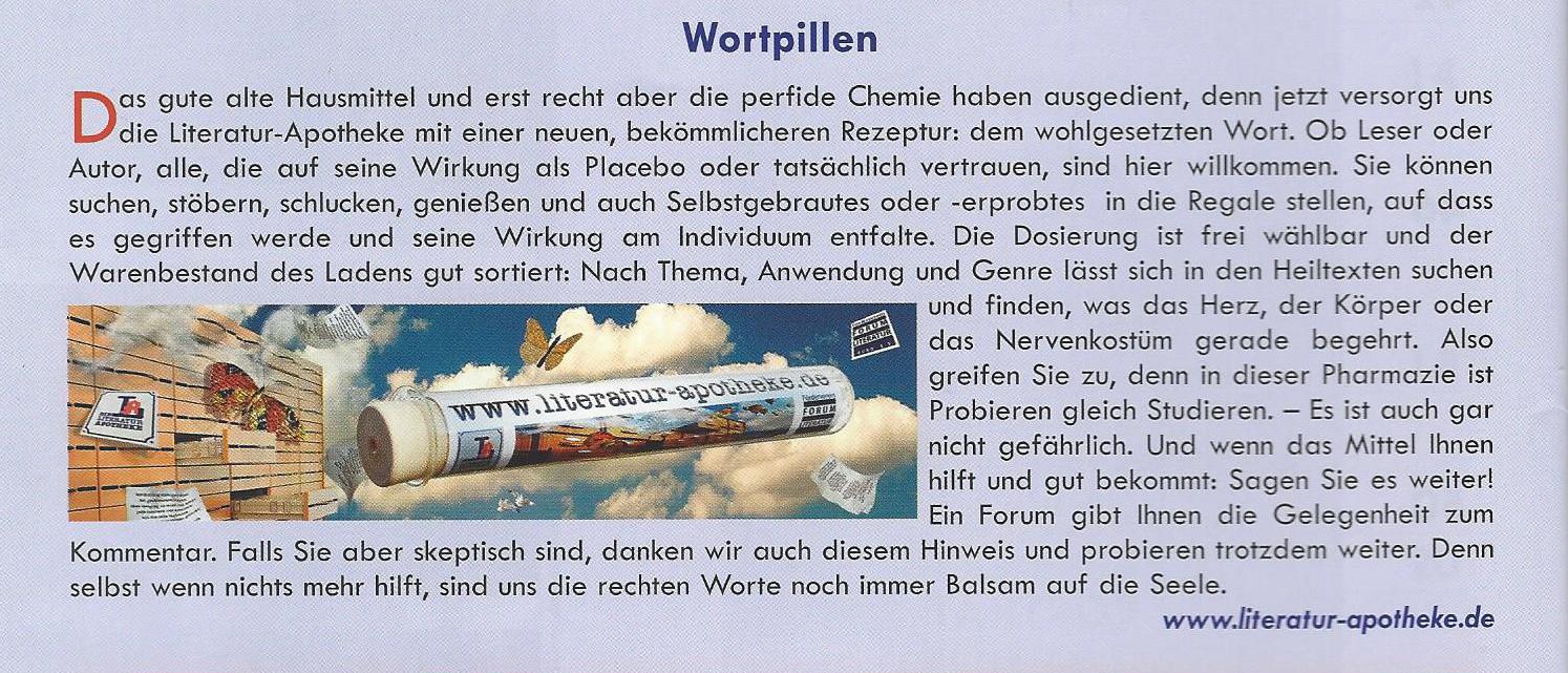 TextArt August 2016 Wortpillen