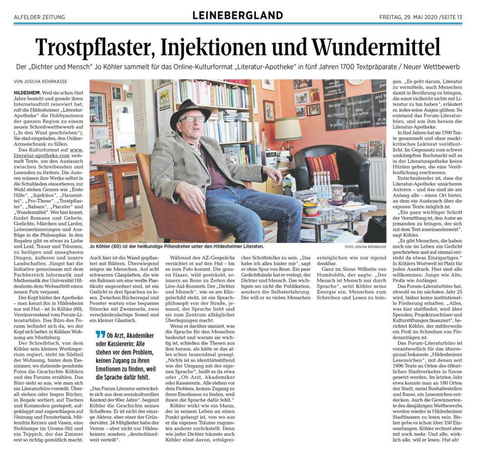 Alfelder Zeitung-Literatur-Apotheke_29.05.20