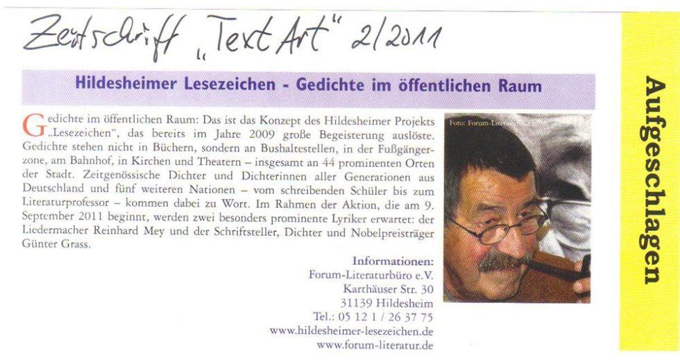TextArt_LeseZeichen2011_02.11