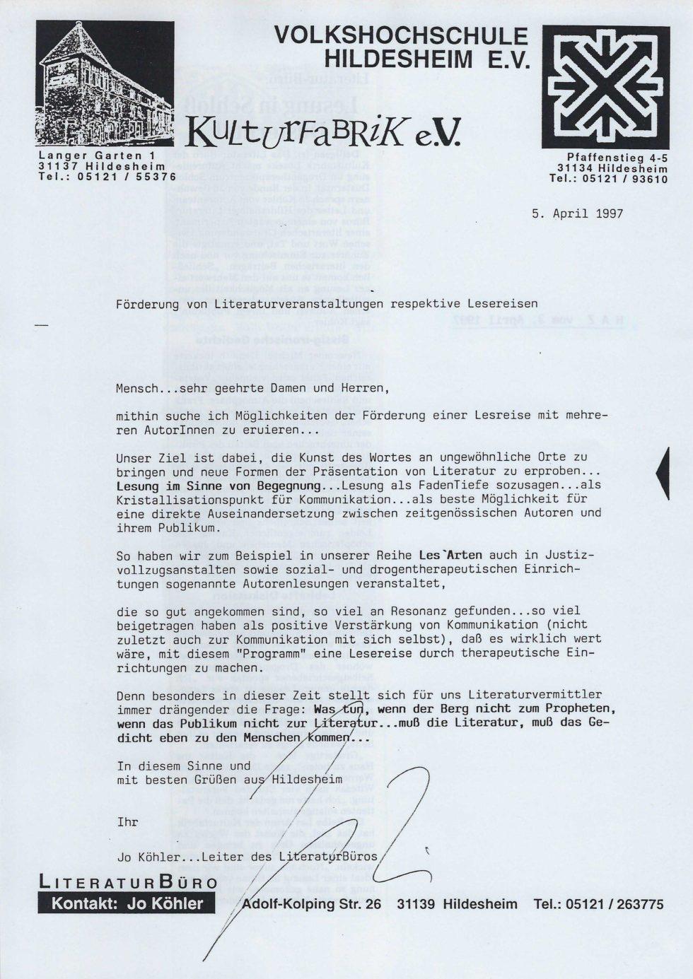 1997 Stift.Lesen, Lit.Tour, Lasker-Wallfisch_Seite_19