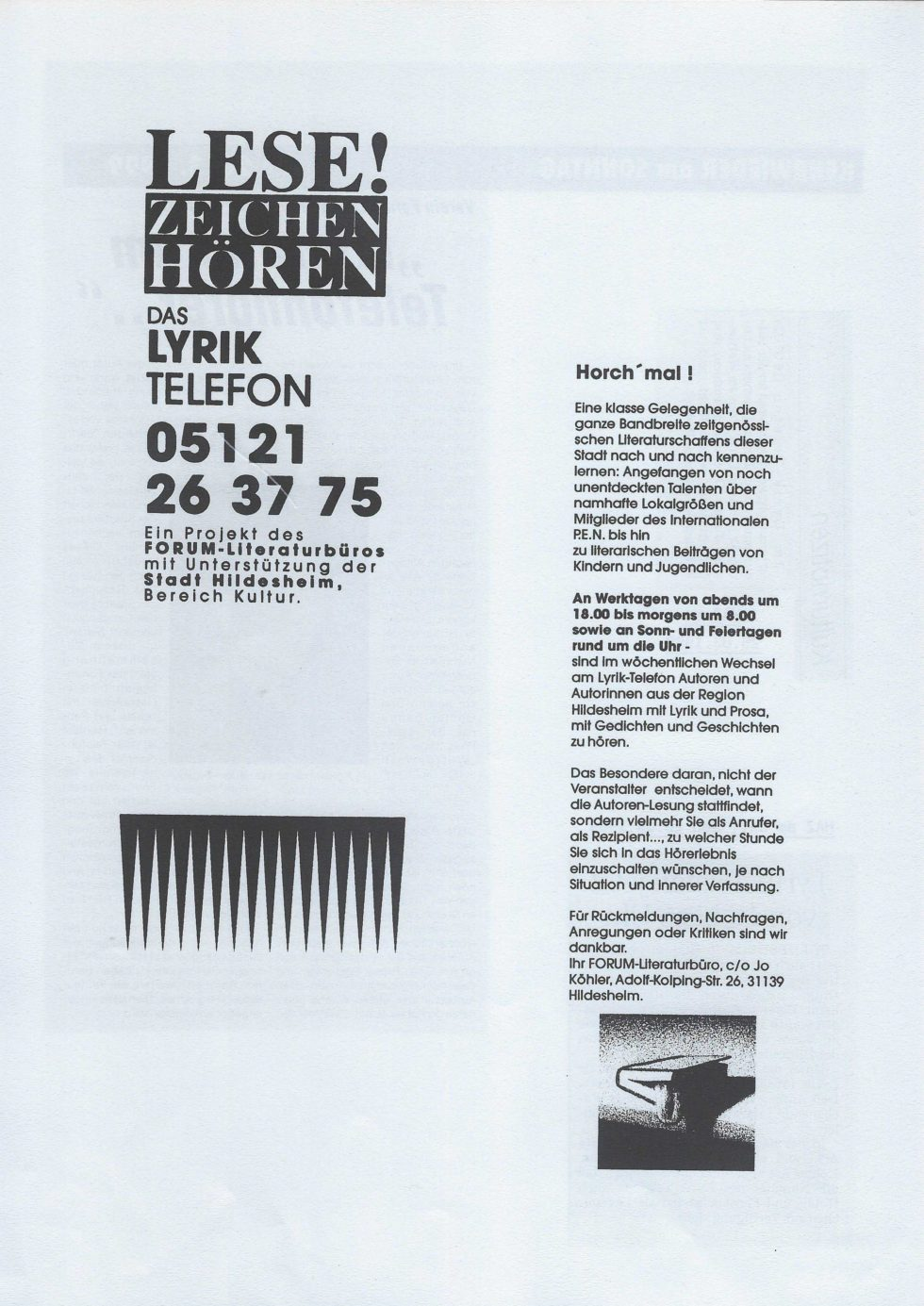1999 Lyrik-Säulen, JVA Lesung,_Seite_16
