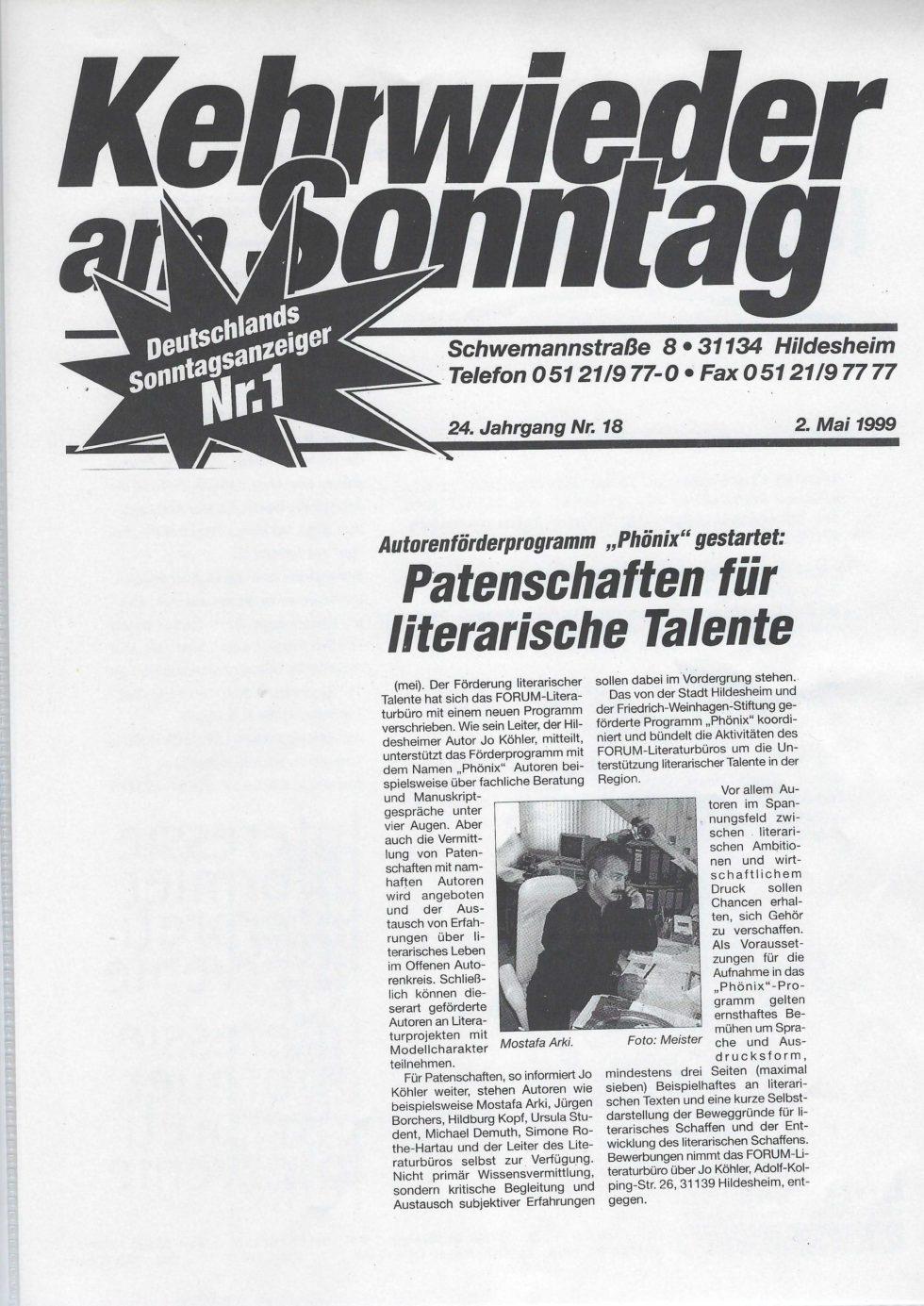 1999 Lyrik-Säulen, JVA Lesung,_Seite_19