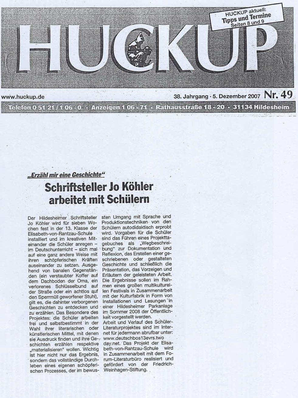 Huckup_Schulprojekte2008