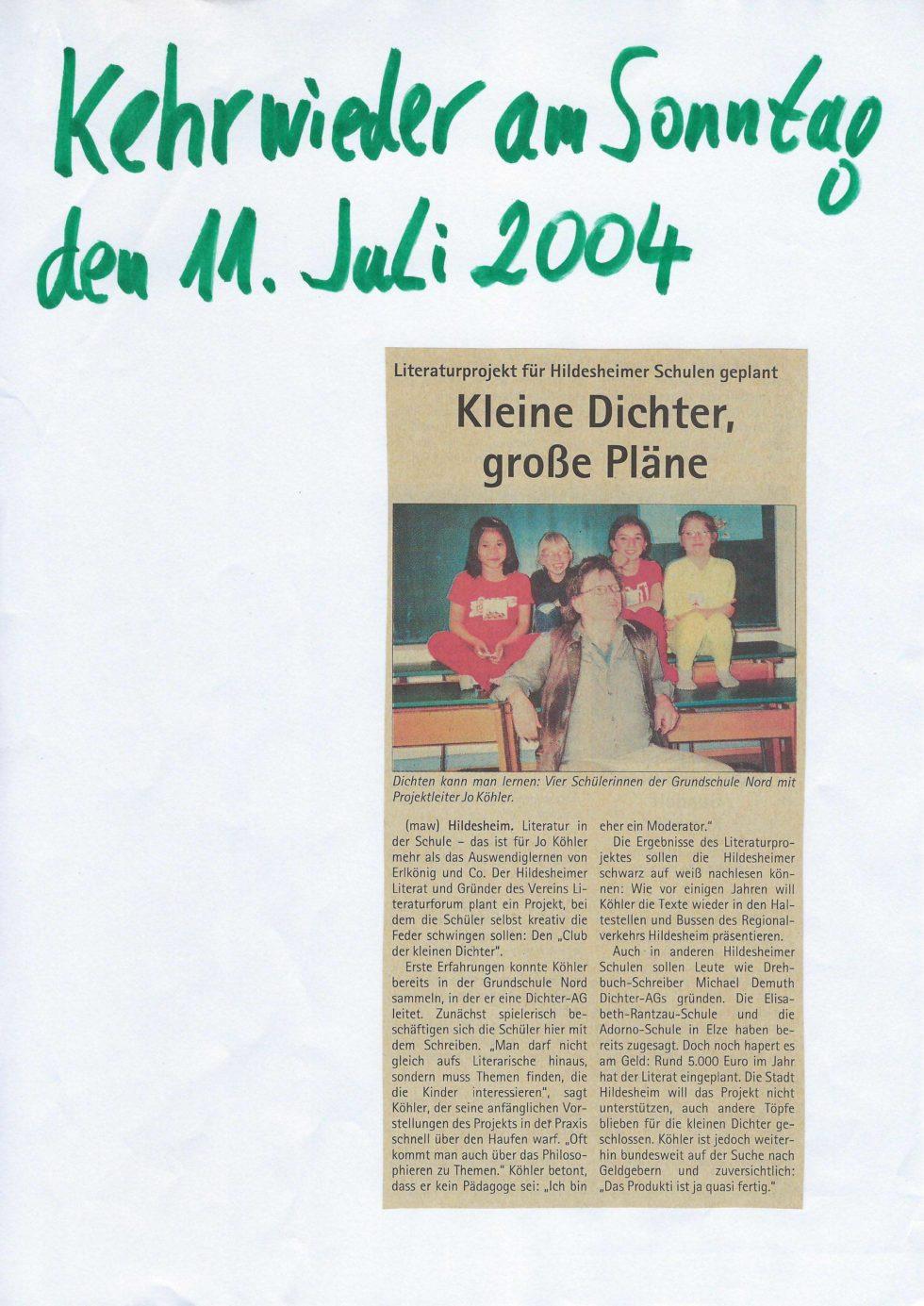 Schulprojekt2004_05 Kehrwieder